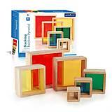 Набор блоков Guidecraft «Цветная Пирамидка», G5066, фото
