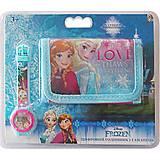 Набор «Часы цифровые и кошелек «Холодное сердце», FR35783, детские игрушки