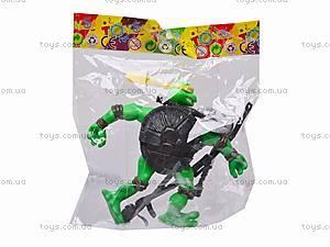 Набор «Черепашки-ниндзя», с оружием, 3343A, детские игрушки