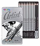 Набор чернографитных карандашей для рисования серия Artist 12 видов Colorino, 80118PTR, цена
