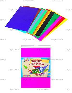 Набор цветного картона А4 «Глянец», 950254