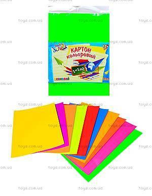 Набор цветного картона А4 «Неон», 950258