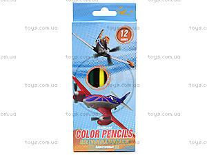 Набор цветных детских карандашей, 12 штук, PLBB-US1-P-12
