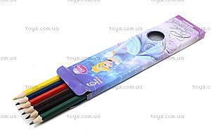 Набор цветных детских карандашей, 6 штук, CIAB-US1-P-6, фото