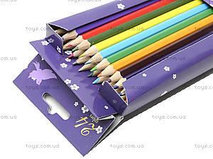Набор цветных карандашей, 24 штуки, PRGL-12S-1P-24, отзывы