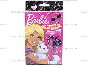 Набор цветных карандашей «Барби», 12 штук, BRAB-US1-8P-12