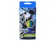 Набор цветных карандашей Max Steel, MX14-051K, отзывы