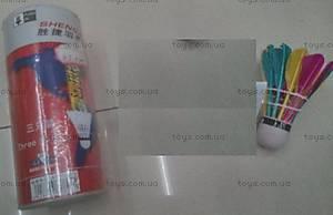 Набор цветных воланчиков для бадминтона, QB0303