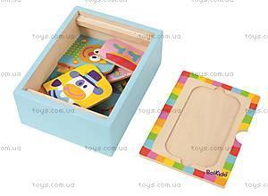 Набор деревянных пазлов в коробке, 4026, игрушки