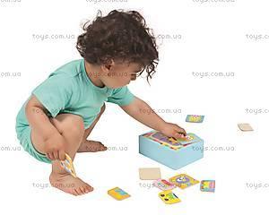 Набор деревянных пазлов в коробке, 4026, детские игрушки