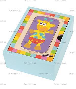 Набор деревянных пазлов в коробке, 4026, магазин игрушек