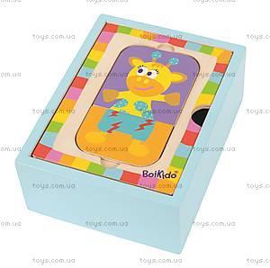 Набор деревянных пазлов в коробке, 4026, toys.com.ua