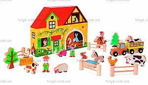 Набор деревянных игрушек «Ферма Стори бокс», 23 детали, J08524
