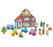 Набор деревянных игрушек « Городок Стори бокс», 17 деталей, J08528, купить