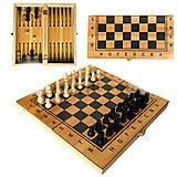 Набор деревянный 2 в 1 «Шахматы, Нарды», IGR81, купить игрушку