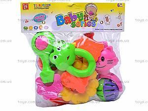 Набор детских погремушек, 5 штук, 38330A, цена