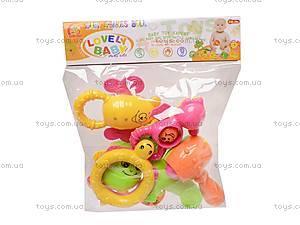 Набор детских погремушек, 6 штук, 860-33, цена