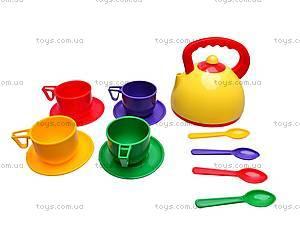 Набор детской посуды, с чайником, Юника