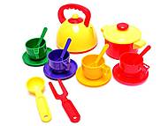 Набор детской посуды, с чайником и кастрюлей, Юника, фото