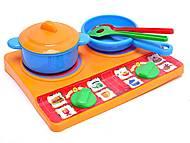 Набор детской посуды, с плитой, 04815, купить