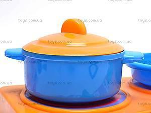 Набор детской посуды, с плитой, 04815, фото