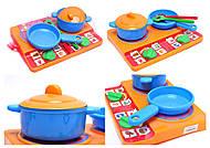 Набор детской посуды, с плитой, 04815, тойс ком юа