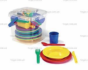Набор детской посуды в корзинке, 41408