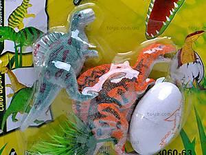 Набор динозавров, 2 фигурки, 3060-63, фото