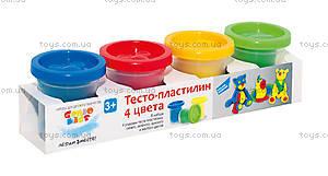 Набор для детского творчества «Тесто-пластилин», 4 цвета, TA1008