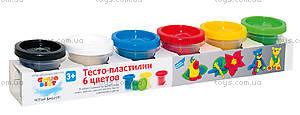 Набор для детского творчества «Тесто-пластилин», 6 цветов, TA1009