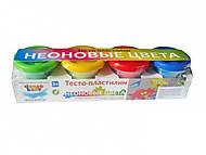 Набор для детской лепки «Тесто-пластилин. Неоновые цвета»., TA1016V, купить