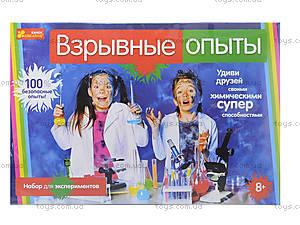 Набор для экспериментов «Взрывные опыты», 0391, купить