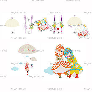 Набор для киригами «Девочки с парашютом», DJ08771, фото