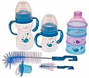 Набор для кормления от 6 месяцев синий Bayby, BGS6203, детские игрушки