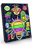 Набор для лепки «Fluoric» 10 цветов + 2 формочки, TMD-FL10-02, игрушки