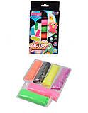 Неоновый пластилин для лепки, 41010, toys