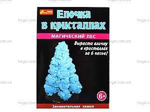 Набор для опытов «Сад пушистых кристаллов. Елка в кристаллах», синий, 0257, игрушки