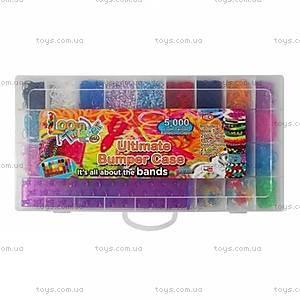 Набор для плетения резинками в чемоданчике, 5000 штук, SV11833