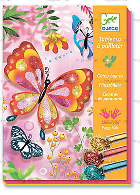 Набор для рисования блестками «Блестящие бабочки», DJ09503