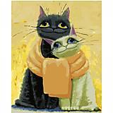 """Набор для росписи по номерам """"Котики, замотанные шарфом""""40х50 см, VA-2669, отзывы"""