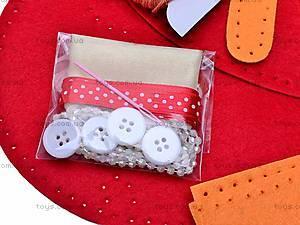 Набор для рукоделия «Красная сумочка», 9063, игрушки