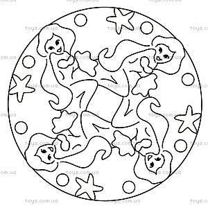 Набор для рисования Ravensburger «Мини Мандала: Русалочка», 29750, детские игрушки