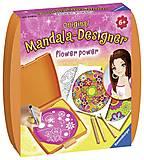 Набор для рисования Ravensburger «Мини Мандала: Сила цветов», 29753, детские игрушки