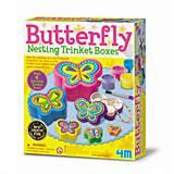 Набор для творчества 4M «Шкатулки-бабочки», 00-04664, цена