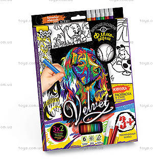 Набор для творчества «Бархатная раскраска фломастерами», , цена