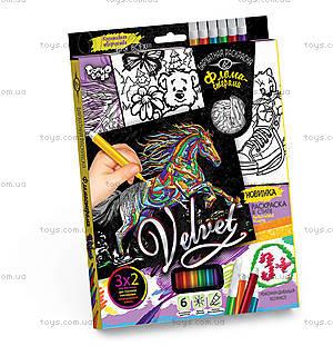 Набор для творчества «Бархатная раскраска фломастерами», , детские игрушки