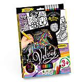 Набор для творчества «Бархатная раскраска фломастерами», , интернет магазин22 игрушки Украина