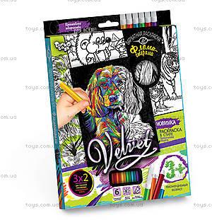 Набор для творчества «Бархатная раскраска фломастерами», , магазин игрушек