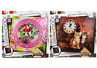 Набор для творчества «Часы Embroidery clock», , детский