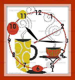 Картина «Часы. Кофейное наслаждение», вышивка, G200